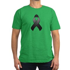 Black Awareness Ribbon Men's Fitted T-Shirt (dark)