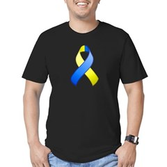 Blue and Yellow Awareness Ribbon T