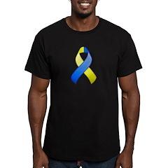 Blue and Yellow Awareness Ribbon T