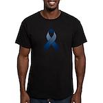 Dark Blue Awareness Ribbon Men's Fitted T-Shirt (d