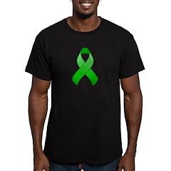 Green Awareness Ribbon Men's Fitted T-Shirt (dark)