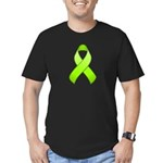 Lime Awareness Ribbon Men's Fitted T-Shirt (dark)