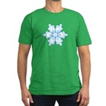 Flurry Snowflake I Men's Fitted T-Shirt (dark)