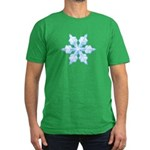 Flurry Snowflake VI Men's Fitted T-Shirt (dark)