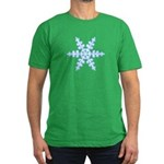 Flurry Snowflake XIV Men's Fitted T-Shirt (dark)