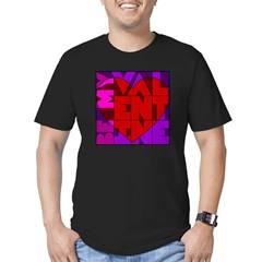 Be My Valentine Men's Fitted T-Shirt (dark)