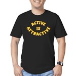 Active Is Attractive Men's Fitted T-Shirt (dark)