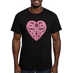 Bijii Heartknot Men's Fitted T-Shirt (dark)