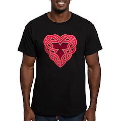 Chante Heartknot Men's Fitted T-Shirt (dark)