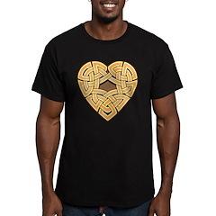 Chonoska Heartknot Men's Fitted T-Shirt (dark)