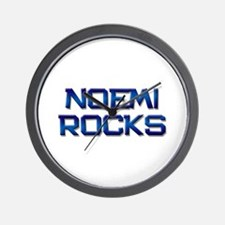 noemi rocks Wall Clock