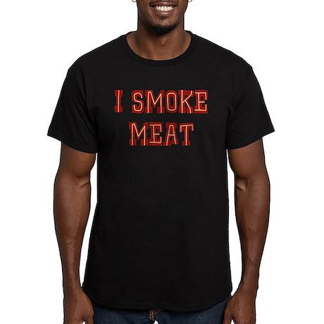 I Smoke Meat Men's Fitted T-Shirt (dark)