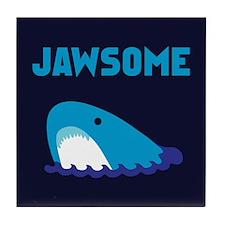 Jawsome Shark Tile Coaster