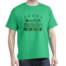 Proud Irish Firefighter's Dad T-Shirt