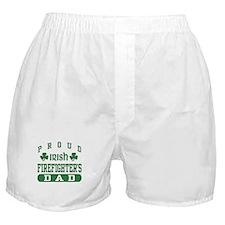 Proud Irish Firefighter's Dad Boxer Shorts