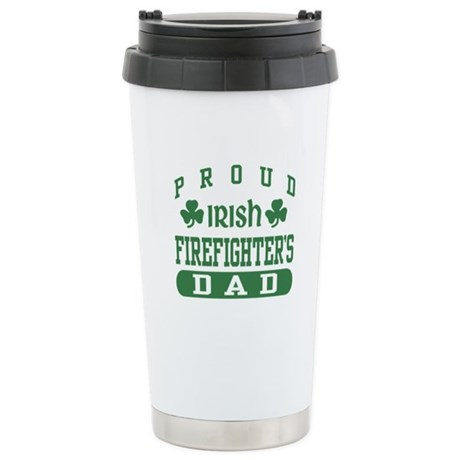 Proud Irish Firefighter's Dad Stainless Steel Trav