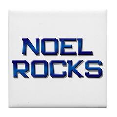 noel rocks Tile Coaster