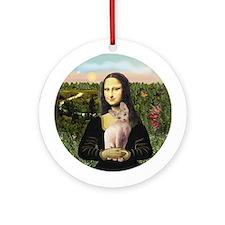 Sphynx Cat & Mona Lisa Ornament (Round)
