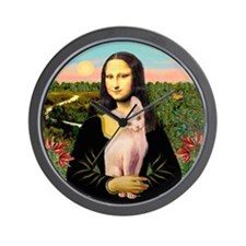 Sphynx Cat & Mona Lisa Wall Clock