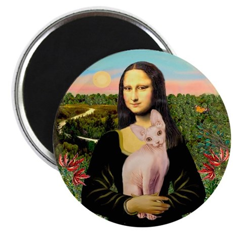 Sphynx Cat & Mona Lisa Magnet