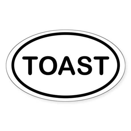 Toast Oval Decal by toastershop