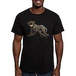 Creepy Monkey Men's Fitted T-Shirt (dark)