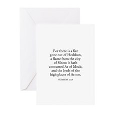 NUMBERS  21:28 Greeting Cards (Pk of 10)