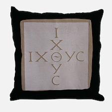 'Christian Monogram' Throw Pillow