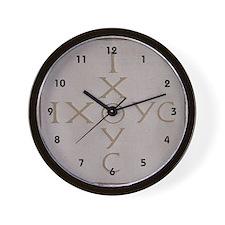 'Christian Monogram' Wall Clock