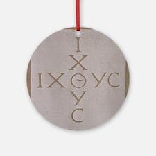'Christian Monogram' Ornament (Round)