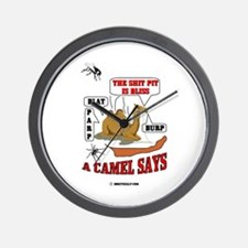 A Camel Says Wall Clock, Middle East, Oil,