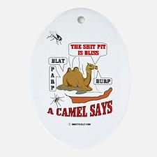 A Camel Says Oval Ornament, Oil, Gas,