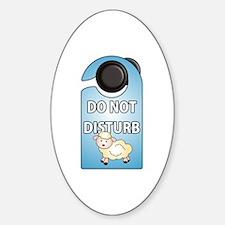 Do Not Disturb Door Sign Oval Decal