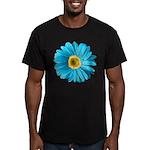 Pop Art Blue Daisy Men's Fitted T-Shirt (dark)
