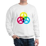 Glowing Colorful Peace signs Sweatshirt