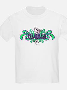Gloria's Butterfly Name Kids T-Shirt