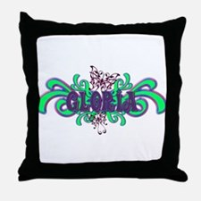 Gloria's Butterfly Name Throw Pillow