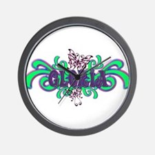 Gloria's Butterfly Name Wall Clock