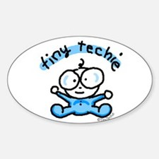 Tiny Techie Geek Baby Oval Decal