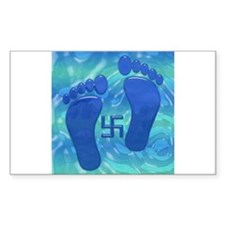 Buddhas' feet Rectangle Decal