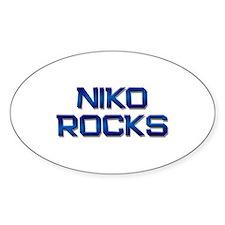 niko rocks Oval Decal