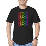 Stacked Obama Rainbow Pop Men's Fitted T-Shirt (da