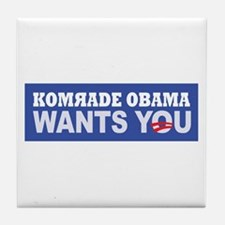 Anti Barack Obama Tile Coaster