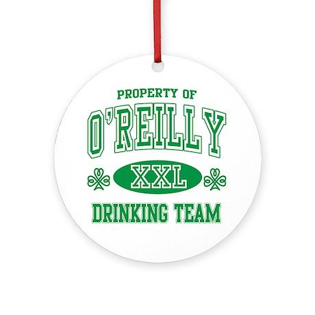 O'Reilly Irish Drinking Team Ornament (Round)