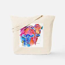 Whimzical Calf & Mom Tote Bag