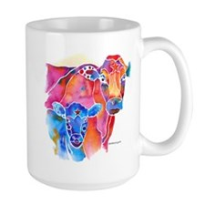 Whimzical Calf & Mom Mug