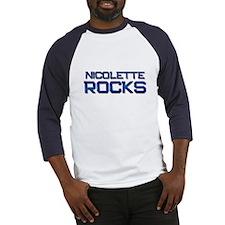 nicolette rocks Baseball Jersey