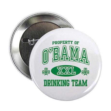 """O'Bama Irish Drinking Team 2.25"""" Button"""