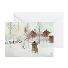 Winter Farm House Greeting Cards (Pk of 10)