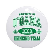 O'Bama Irish Drinking Team Ornament (Round)